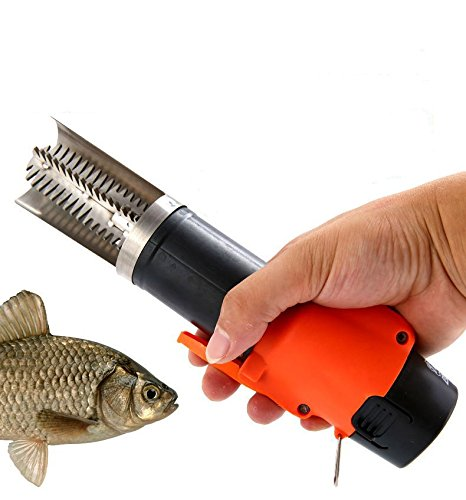 QST Powerful Electric Fish Skin Scaler Descaler Scale Scraper Knife 1500MA Rechargeable Lithium Battery Fishscale Seafood Tools