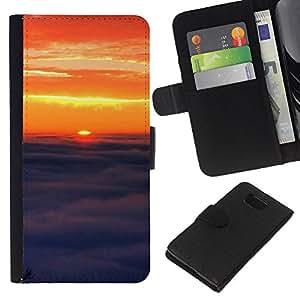 Stuss Case / Funda Carcasa PU de Cuero - Sunset Beautiful Nature 91 - Samsung ALPHA G850