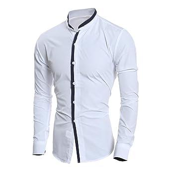 Camisas hombre Camisa Slim de manga larga, YanHoo®camisas verano hombre camisas blancas de