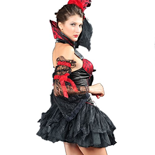LFDDR Women's Sexy Halloween Witch Stage Equipment Game Uniforms M Figure