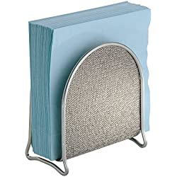 mDesign Napkin Holder for Kitchen Countertops, Table - Metallic