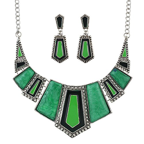 Geometric Green Necklace - 5