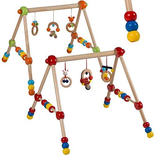 Spieltrapez Spielcenter Holzspielzeug Spielbogen HÖHENVERSTELLBAR in verschiedenen Farben (Rot)