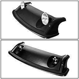 Toyota FJ Cruiser Black Offroad OE Style Roof Rack Air Dam + Fog Lights + Cover Kit