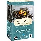 Numi Organic Tea Aged Earl Grey, (Pack of 3 Boxes) 18 Bags Per Box, Organic Black Tea Naturally Aged with Italian Bergamot to Absorb the Flavor, Non-GMO Biodegradable Bags, Premium Bagged Tea