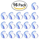 Glass Kitchen Countertops Baby Child Proof Corner Safety Bumpers Proofing Corner Guards Transparent Table Corner Cover Protect From Injury Around the House(16pcs)