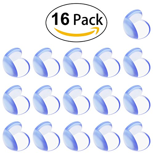 Baby Child Proof Corner Safety Bumpers Proofing Corner Guards Transparent Table Corner Cover Protect From Injury Around the House(16pcs)