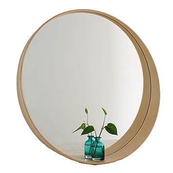 miroir rond bois avec tablette cosmeticdirectory. Black Bedroom Furniture Sets. Home Design Ideas