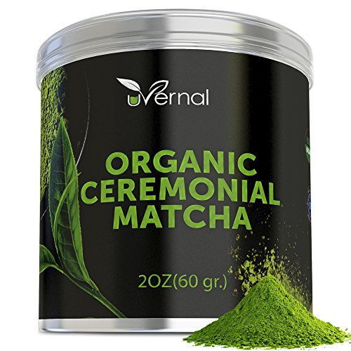 Organic Ceremonial Matcha - Best Taste - USDA Organic - Energy Booster - Green Tea Powder (2oz)