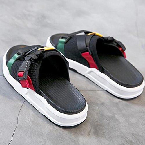 635b61eff2 Chic Zapatillas Punta Abierta Malla Superior Hembra Verano Moda Zapatos  Planos Sandalias Zapatos Casuales