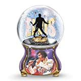 Elvis Presley Musical Glitter Globe Plays Burning Love in Elvis's Actual Voice by The Bradford Exchange