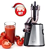 Slow Juicer Wide Mouth Juice Extractor 240Watt Masticating Juicer Machine Powerful Whole Fruit and Vegetable Juicer with Juice Jug and Cleaning Brush