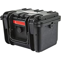 Monoprice Weatherproof / Shockproof Hard Case - Black IP67 level dust and water protection up to 1 meter depth with Customizable Foam, 8 x 7 x 6 in