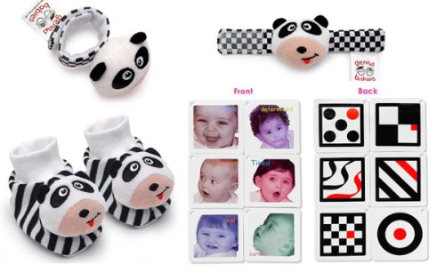 Black, White & Red Infant Stimulation TOY TRIO (Baby Toy Trio)
