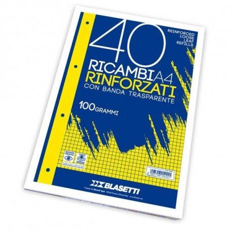 Blasetti RICAMBI A4 Quadri 10M 40FF 100GR
