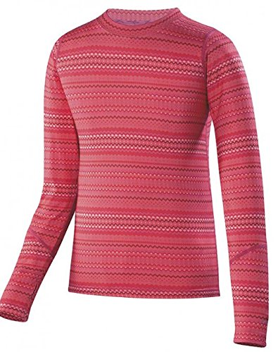- Terramar Sports Girl's Thermolator Kids Crew M Poppy Rick Rack