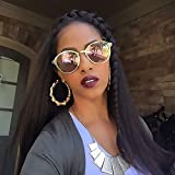 Better Length Hair Clip in Hair Extensions Kinky Straight Yaki Straight Kinky Curly Wave Hair Natural Black Color 16 Inch for African American Beauty (80g 16', Natural Black)