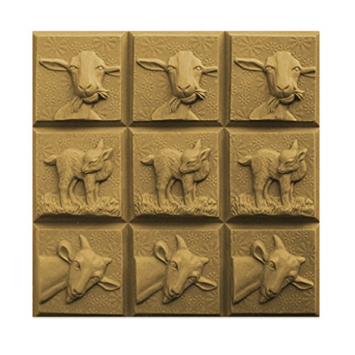 Funny Goats Soap Mold (MW 188) -  Milky Way. Melt & Pour, Cold Process w/ Exclusive Copyrighted Full Color Cybrtrayd Soap Molding Instructions in a Sealed Poly Bag