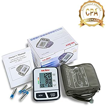 Automatic Upper Arm Blood Pressure Monitor, Large Digital Screen, Easy to Use, Standard