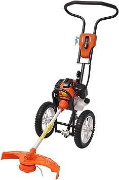 VidaXL Desbrozadora 2 Tiempos Ruedas Motor1,9 kW Desplazamiento 52 cc 2,6 HP: Amazon.es: Bricolaje y herramientas
