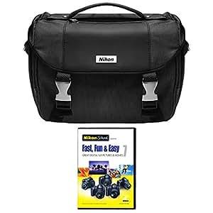 Nikon DSLR Starter Kit with Nikon School Fast, Fun and Easy DVD Set and DSLR Case