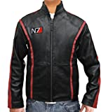 Slim Fit Black N7 Game best leather jackets for Him plus size (XXXL)