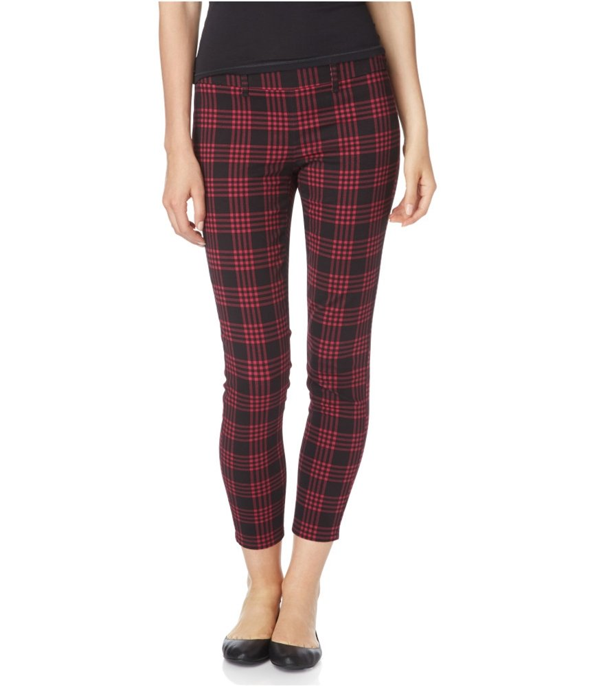 Aeropostale Womens City Crop Casual Trousers Red 000x32 - Juniors