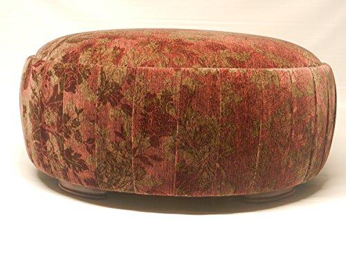 Versailles Round Ottoman (Red Floral Velvet)