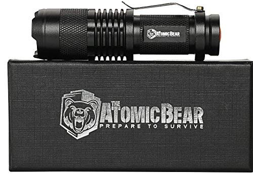 - Tactical Flashlight - Small and Powerful Pocket Size LED Flashlight to Dominate The Darkness - Self Defense - Zoomable - Water Resistant Gear