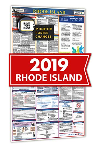 - 2019 Rhode Island All in One Labor Law Posters for Workplace Compliance