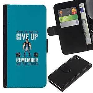 KLONGSHOP // Tirón de la caja Cartera de cuero con ranuras para tarjetas - Pesos de elevación motivación - Apple Iphone 6 //