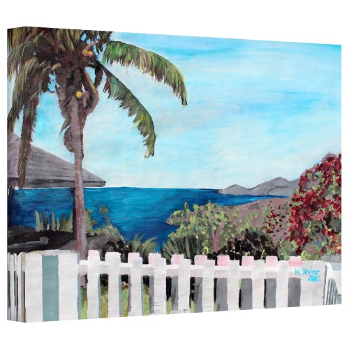 ArtWall 'English Harbour Antigua Ocean View' Gallery Wrapped Canvas Artwork by Martina Bleichner, 32 by 48-Inch