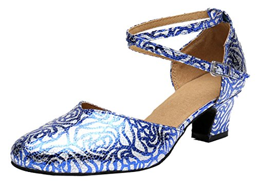 Moderno Donna 35 Heel Jazz Style2 5cm Blu MGM e Joymod Blue wtICCq