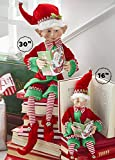 "RAZ Imports Posable Christmas Elf, 16"" Tall, Red"
