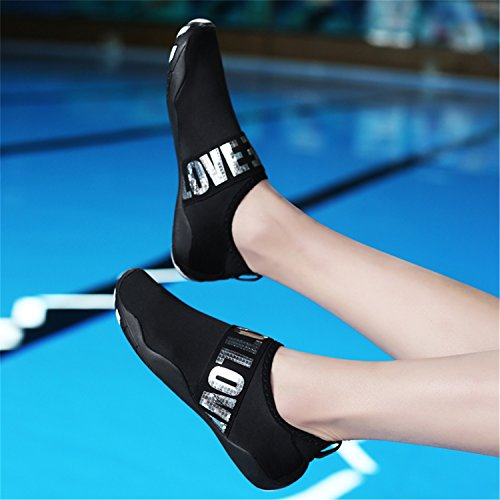 Casual Wading Sports L Outdoor Unisex Black Mutifunctional Shoes Heeled RUN Flat silver Breathable Mesh qwEf1z