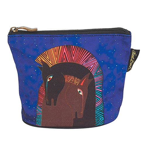 Laurel Burch Mythical Mares Cosmetic Clutch Pouch Embracing - Horses Burch Laurel Mythical