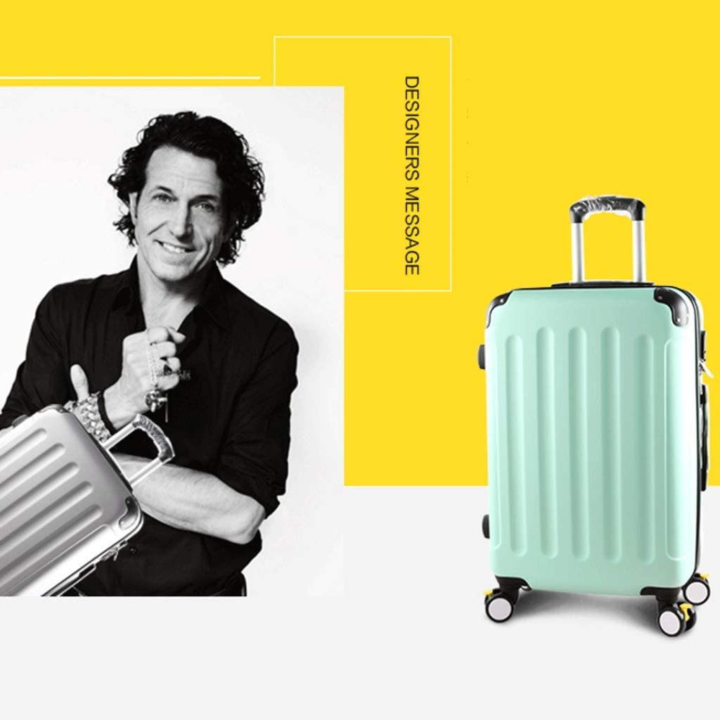 HUANGDA with Extended Luggage Male Trolley Case Password Box Suitcase Large Capacity Luggage 26 College Student Brake Wheel Color : Black, Size : 22 inches
