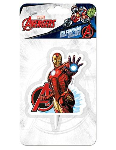 6e8eccb089322 Avengers Iron Man Geburtstagskerzen  Amazon.de  Spielzeug