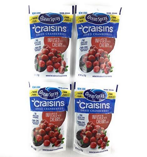 Ocean Spray Cherry Craisins 6 oz ( 4 Pack) (Ocean Spray Dried Cranberries)