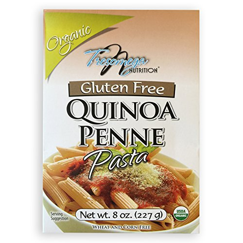Price comparison product image TresOmega Nutrition–Organic Quinoa Penne Pasta–Made with Organic Quinoa, Rice and Amaranth for A Meal High in Protein and Fiber–8 oz. Box