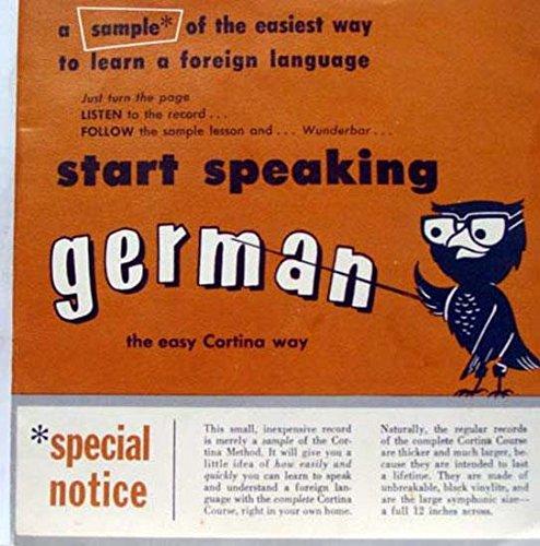 CORTINA LANGUAGE START SPEAKING GERMAN 45 rpm single