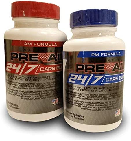 Valentus Prevail 24 7 AM and PM Carb Burner – 60 Capsules per Bottle 120 Capsules Total