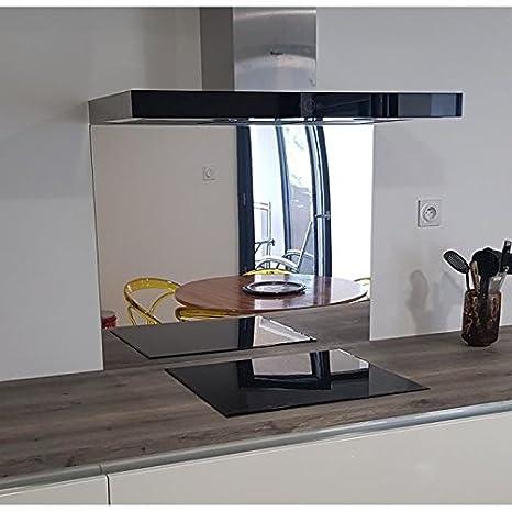 crédence acero inoxidable pulido espejo - altura 50 cm x Ancho 80 ...