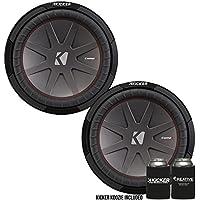Kicker 43CWR124 12 Dual Voice Coil 4 ohm Comp R woofers Bundle