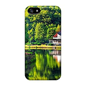 Premium House On The Lake Shore Back Cover Snap On Case For Iphone 5/5s