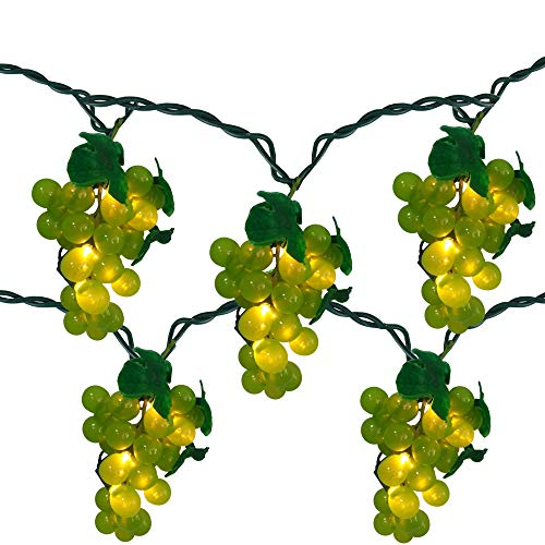 - 5 Green Grape Cluster String Lights - 6ft. Green Wire