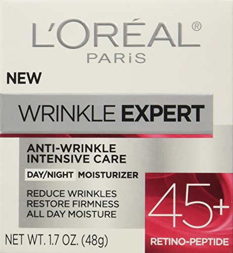 51Pwx0XVUnL - L'Oreal Paris Skincare Wrinkle Expert 45+ Anti-Aging Face Moisturizer with Retino-Peptide, Non-Greasy, Suitable for Sensitive Skin, 1.7 fl. oz.
