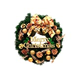 Christmas Garland for Stairs fireplaces Christmas Garland Decoration Xmas Festive Wreath Garland with Christmas wreath,60cm diameter