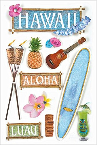 - Paper House Productions STDM-0020E 3D Cardstock Stickers, Hawaii