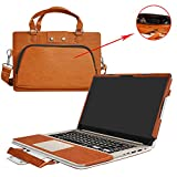 """ASUS S510 S510UA F510UA X510UQ Case,2 in 1 Accurately Designed Protective PU Leather Cover + Portable Carrying Bag for 15.6"""" ASUS VivoBook S510UA S510UQ F510UA X510UQ Series Laptop,Brown"""
